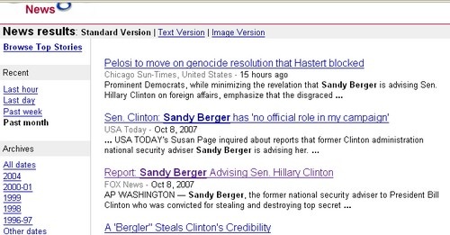 Google news entry