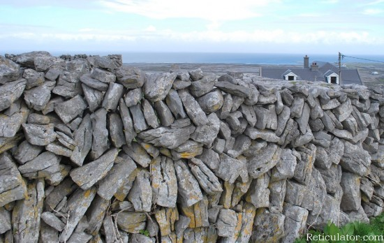 Stone wall on Inishmaan, Aran Islands, Galway Bay